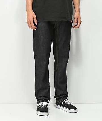 KR3W Klassic Dark Raw Jeans