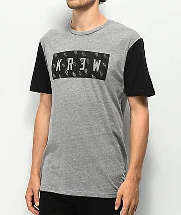 KR3W Paisley Locker camiseta gris y negra