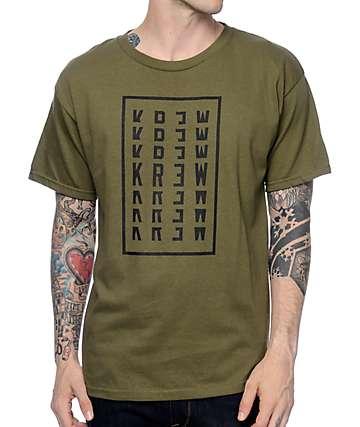 KR3W Stacker Olive T-Shirt