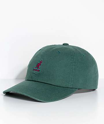 Kangol Algae Green Washed Strapback Hat