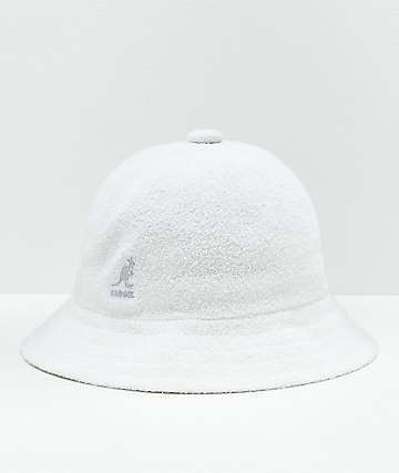 Kangol Bermuda Casual White Bucket Hat