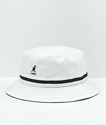 Kangol Stripe Lahinch White Bucket Hat