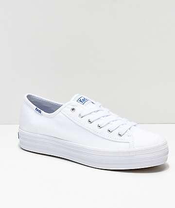 Keds Triple Kick zapatos de lienzo blanco