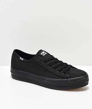 Keds Triple Kick zapatos de lienzo negro