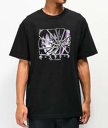Key Street Broken Mirror Black T-Shirt