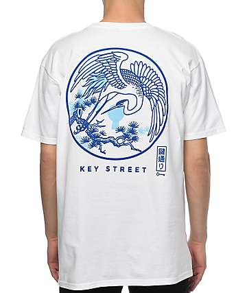 Key Street Crane White T-Shirt