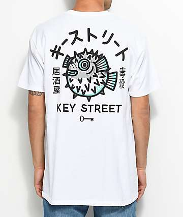 Key Street Fugu White T-Shirt