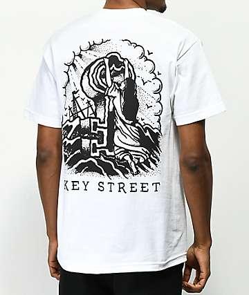 Key Street Rock Of Ages camiseta blanca