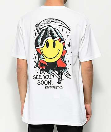 Key Street See You Soon White T-Shirt