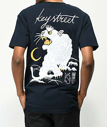 Key Street Suka Navy T-Shirt