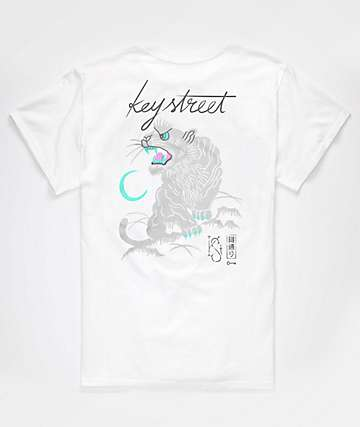 Key Street Suka White T-Shirt