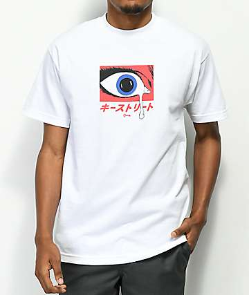Key Street Teardrop White T-Shirt