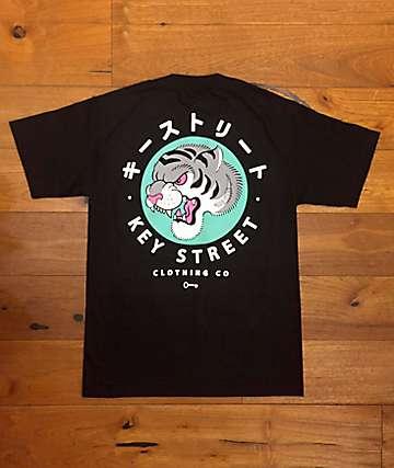 Key Street Tora Black T-Shirt