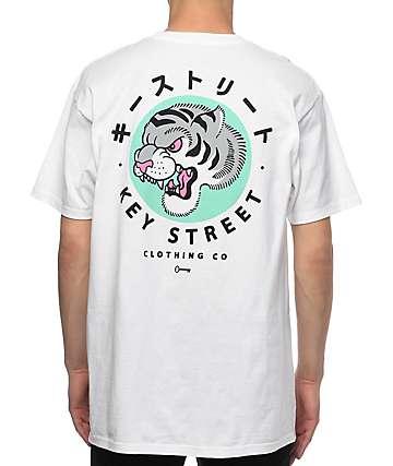 Key Street Tora II White T-Shirt