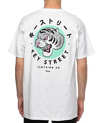 Key Street Tora II White T-Shirt