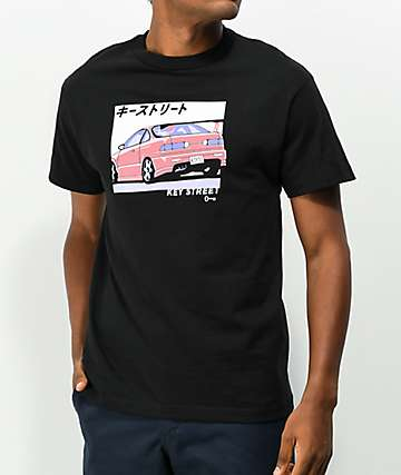 Key Street Type R Black T-Shirt