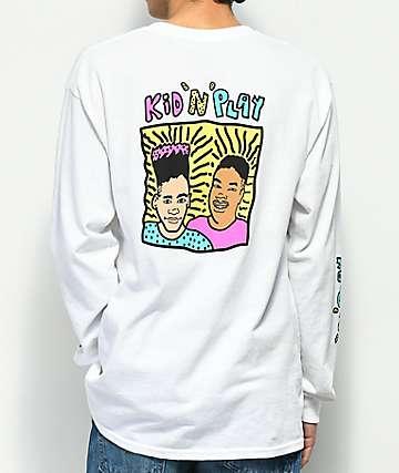 Kid 'N' Play camiseta blanca de manga larga