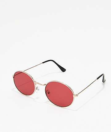 Kid Red Round Sunglasses