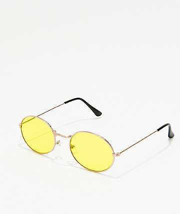 Kid Yellow Round Sunglasses