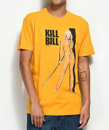 Kill Bill Poster Yellow T-Shirt