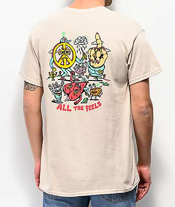 Killer Acid All The Feels Cream T-Shirt
