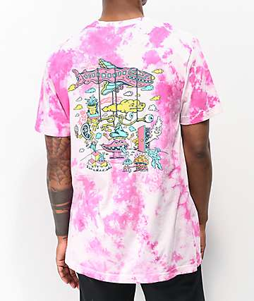 Killer Acid In The Clouds Taffy Pink Tie Dye T-Shirt