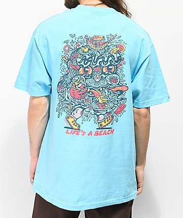 Killer Acid Life's A Beach Blue T-Shirt
