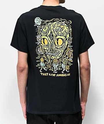 Killer Acid They Live Among Us Black T-Shirt