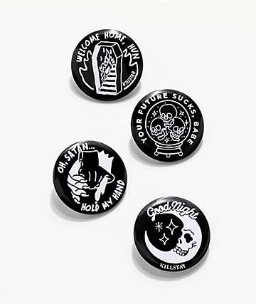 Killstar Badge Up 2 4 Pack Buttons