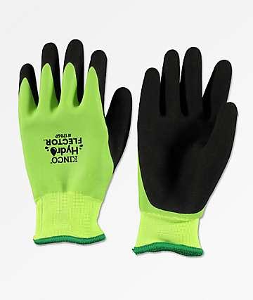 Kinco Hydroflector guantes de snowboard de látex verde neón