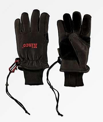 Kinco Premium Driver guantes de snowboard negros