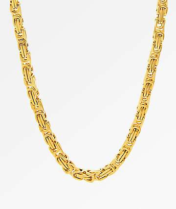 King Ice 5MM Bike Chain 14K Gold Necklace