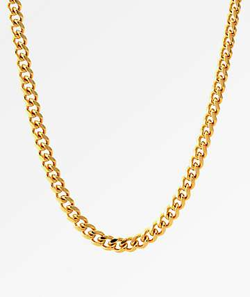 King Ice 5MM Miami Curb Cuban Link Chain 14K Gold Necklace