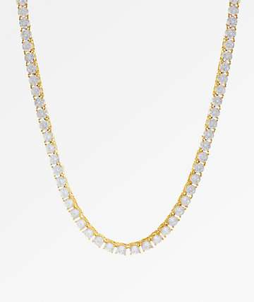 King Ice 5mm Gold Tennis Chain Necklace