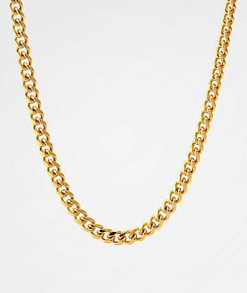 "King Ice 5mm Miami Cuban 24"" Gold Necklace"