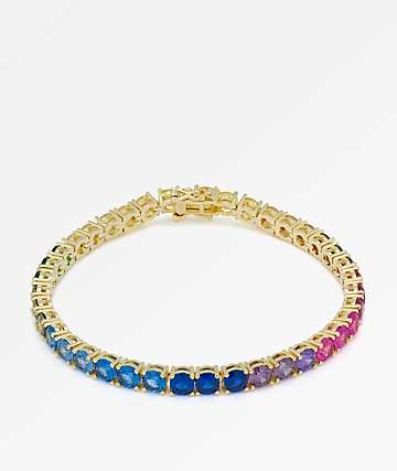 King Ice 5mm Single Row Spectrum Bracelet
