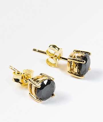 King Ice 6mm Round Cut Earrings