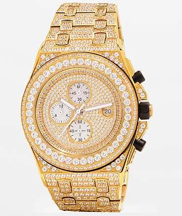 King Ice Baron 14k reloj de oro