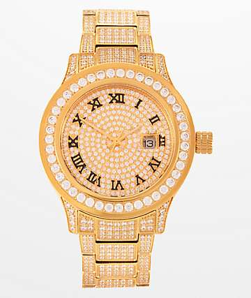 King Ice Don reloj de oro 14k
