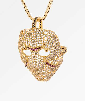 King Ice Hockey Mask collar dorado