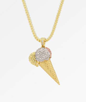 King Ice Ice Cream collar de cadena de oro