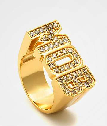 King Ice MOB Gold Ring