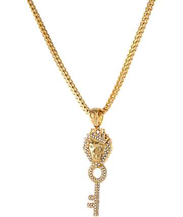 King Ice Major Key 14K collar dorado