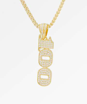 King Ice One-Hundred 14K Gold Necklace