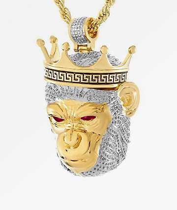 King Ice The King Of Apes Gold Necklace