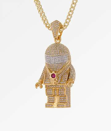 King Ice The Spaceman Gold Necklace