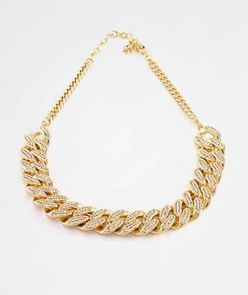 King Ice Women's Cuban Choker Necklace