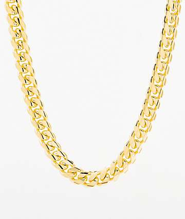 King Ice Women's Miami Cuban Gold Chain Necklace