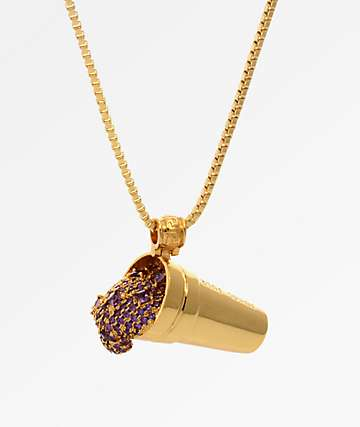 King Ice X Snoop Dogg The Purple Drank Necklace