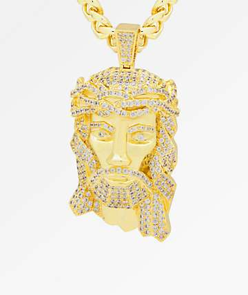 King Ice XL Jesus Piece Gold Necklace